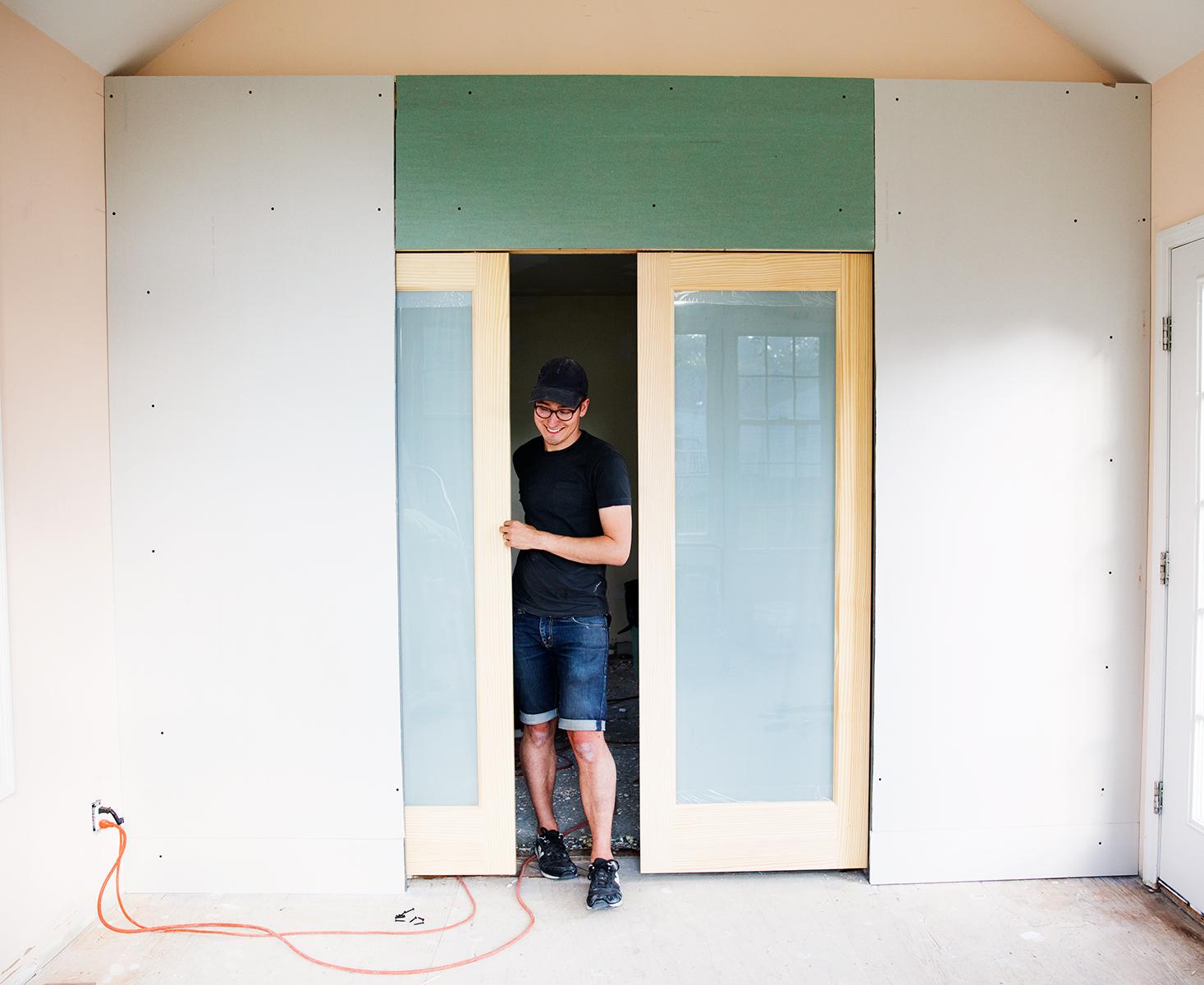 pocket doors! - + new electric + bathroom demolition oh my