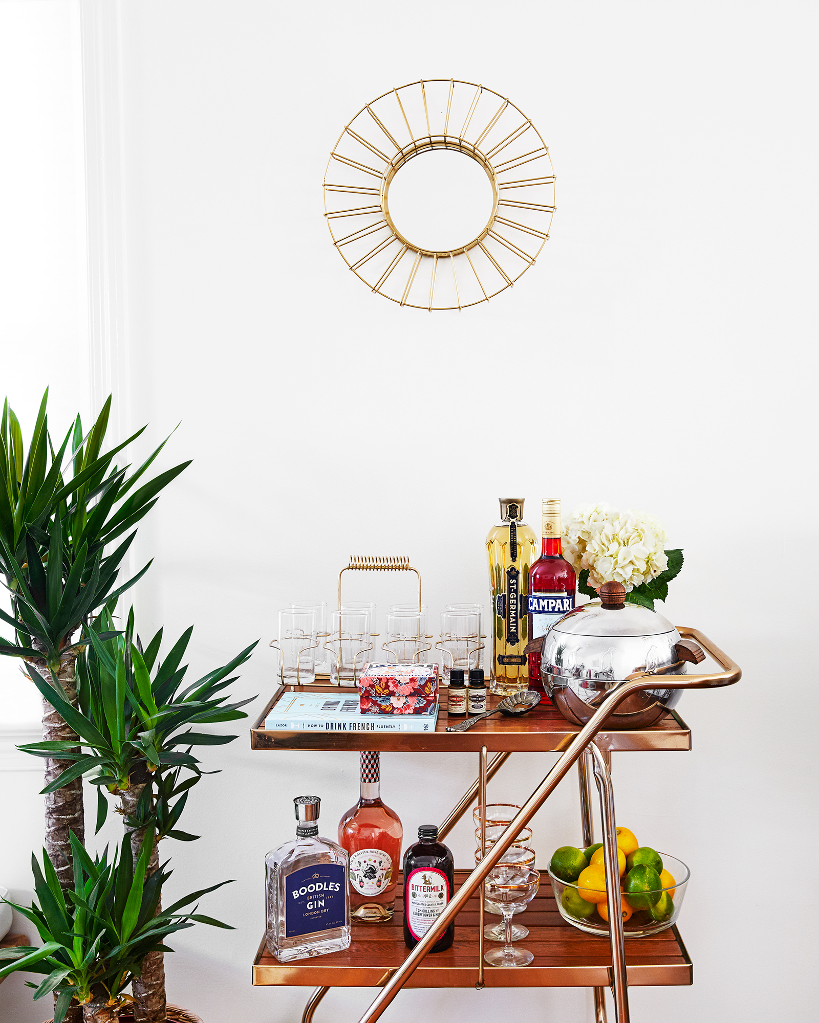 bar cart styling -