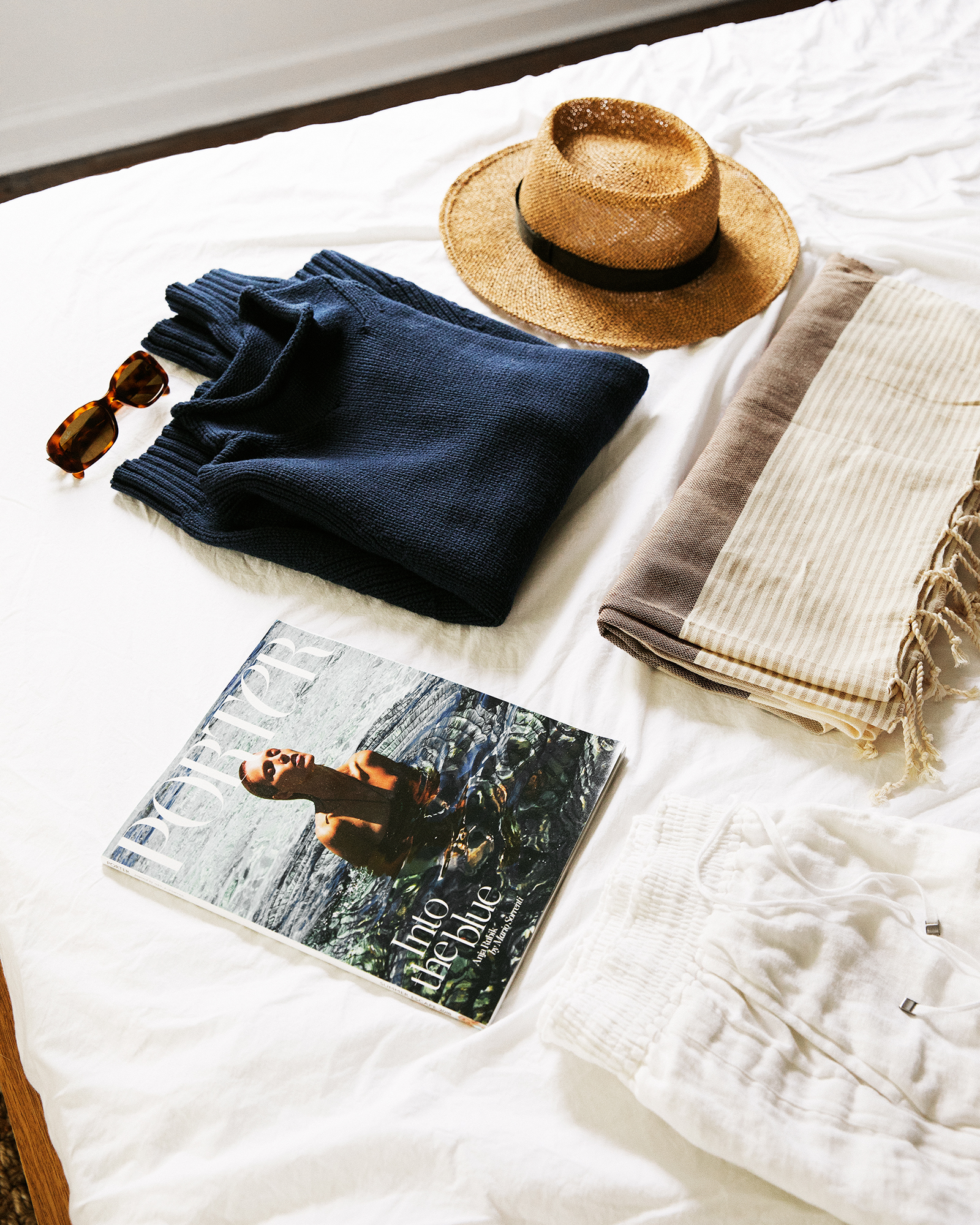 vacation packing - for a week of boats + wine tasting + family gatherings