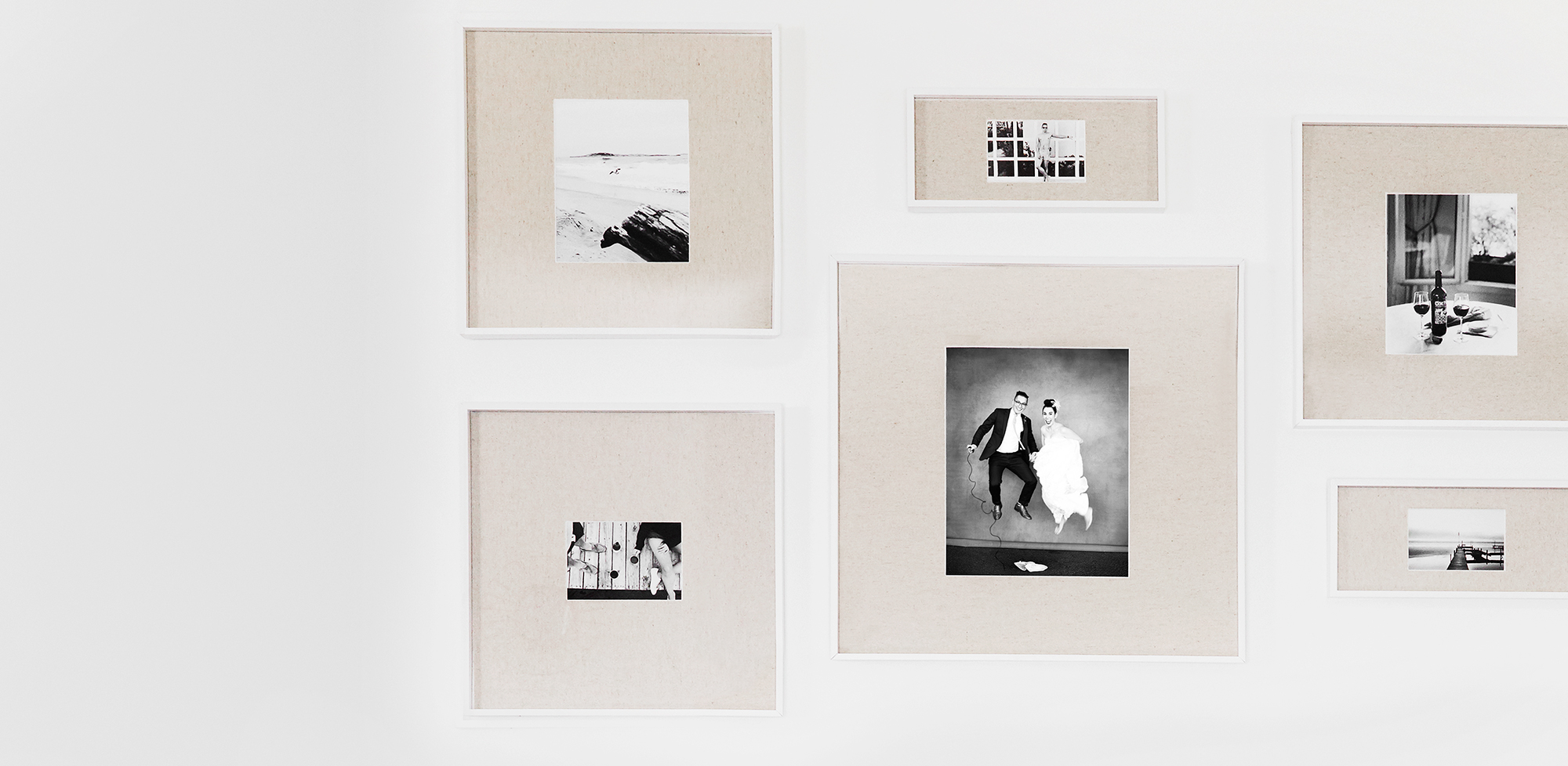 our black + white gallery wall -