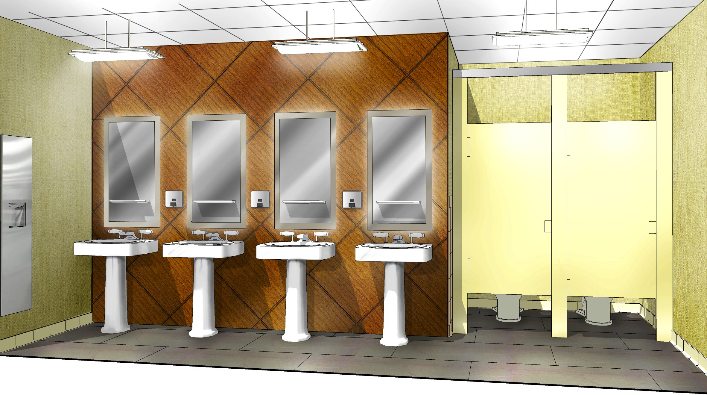 Men's Washroom - Proposed