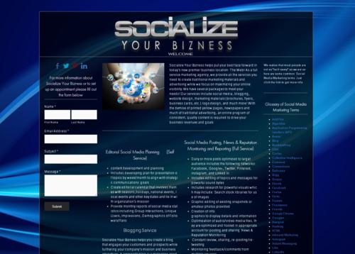 Socialize your Bizness website