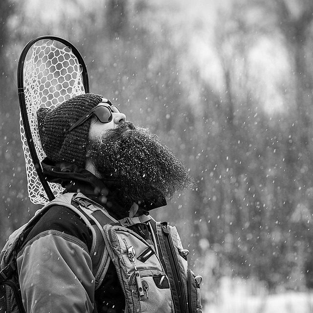alaskaguidelist :     Happy Thanksgiving. Time to get outside and be thankful. @_gillsandgame_ with one of the most epic photos to date. #thanksgiving #flyfishing #fishing #snow #beard #catchandrelease #getoutside