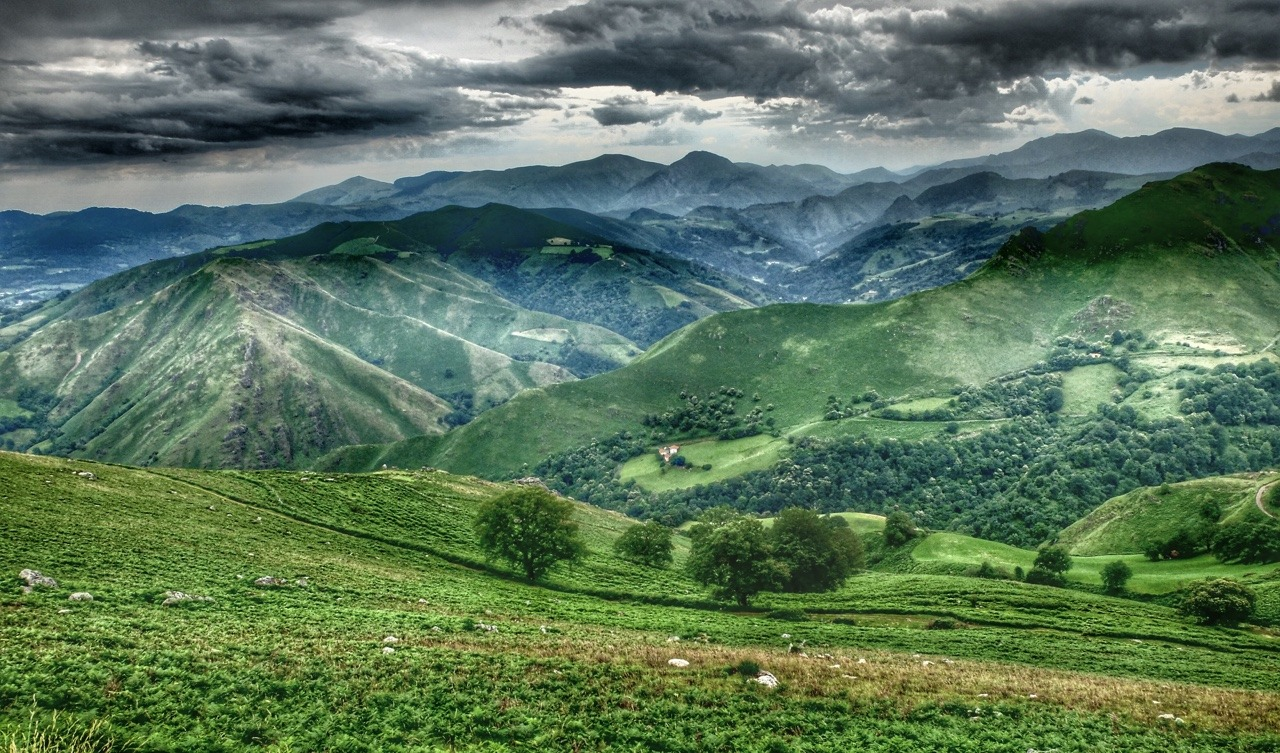 French Pyrenees.    -A