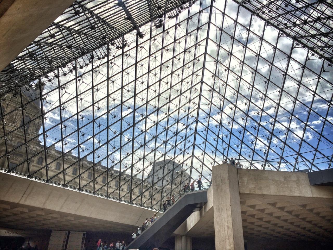 The Louvre, Paris, France.    -A