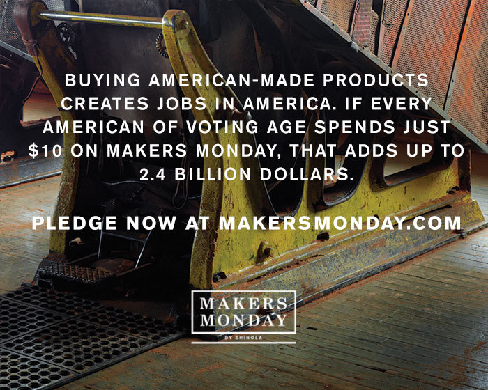 offroadie :      whiskeygrade :     Yes!  Makers Monday      Creates, and helps sustain those jobs that we still have.