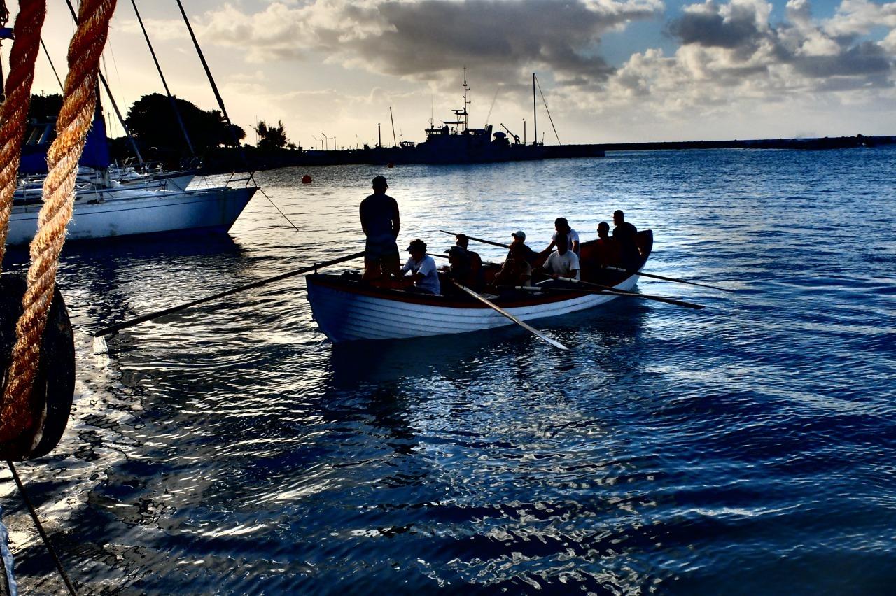 Excursions.      Prepare to hoist the Monomoy.    Rarotonga, Cook Islands.
