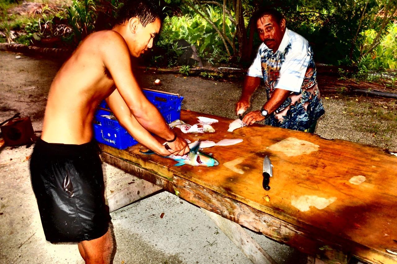 Simon & David.    Palmerston Island, Cook Islands.