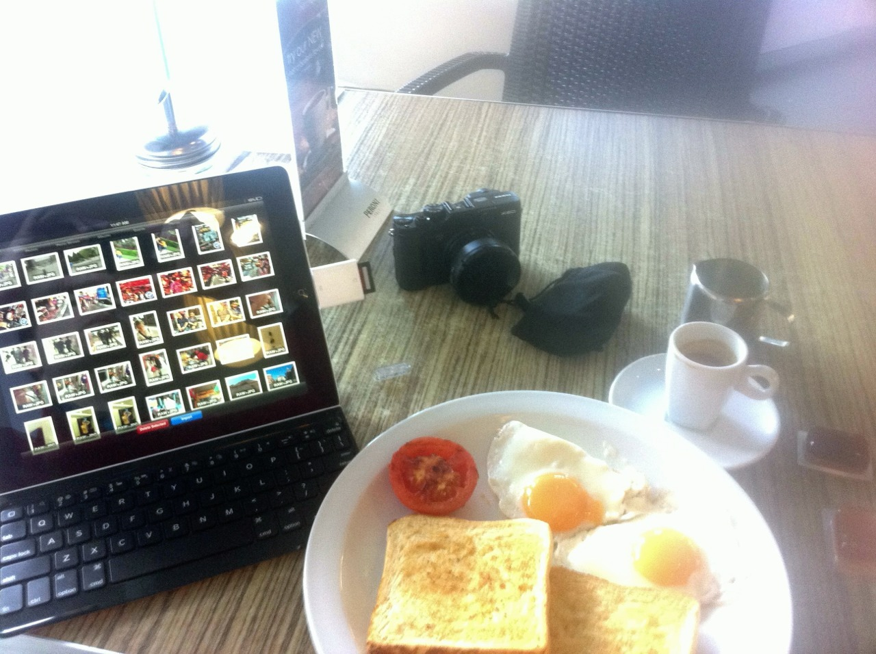 Breakfast with a side of editing.