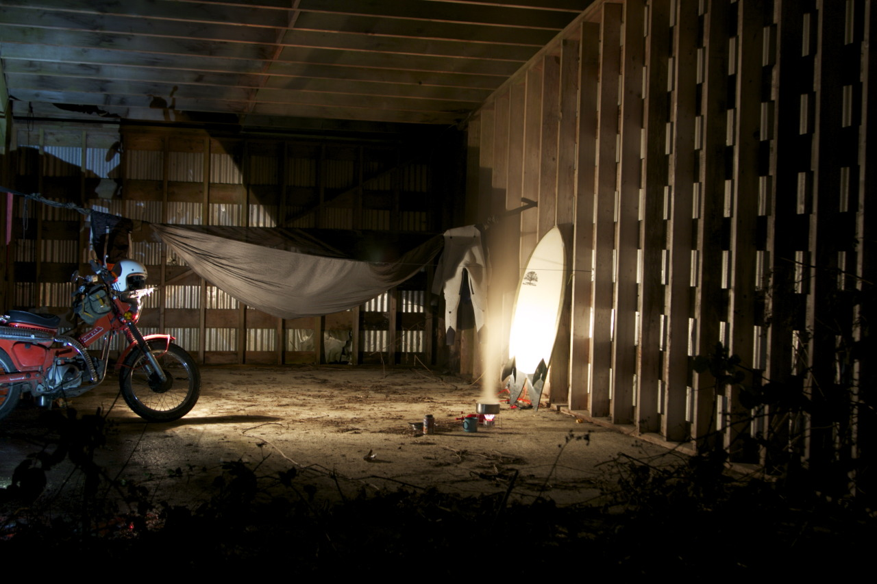patagonia :     Abandoned shed, providing shelter from the rain for a few nights.     .