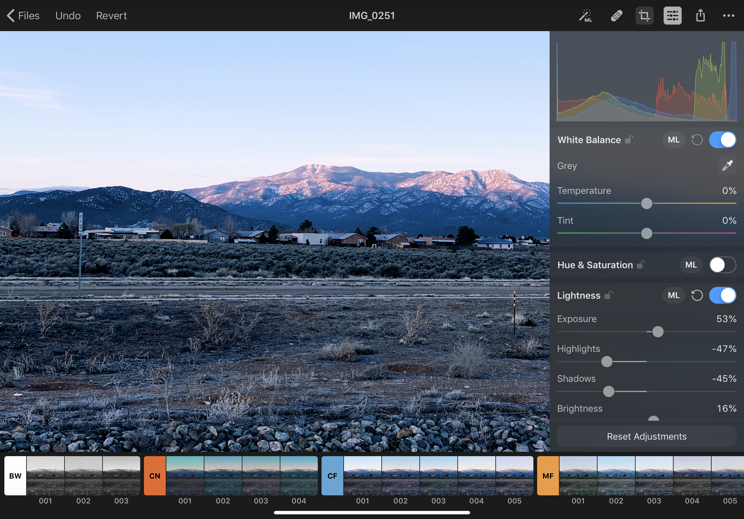 The barebones features of Pixelmator Photo.  And more filters.