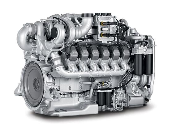 The Tier 4 Final certified 12V Series 1600 MTU engine.