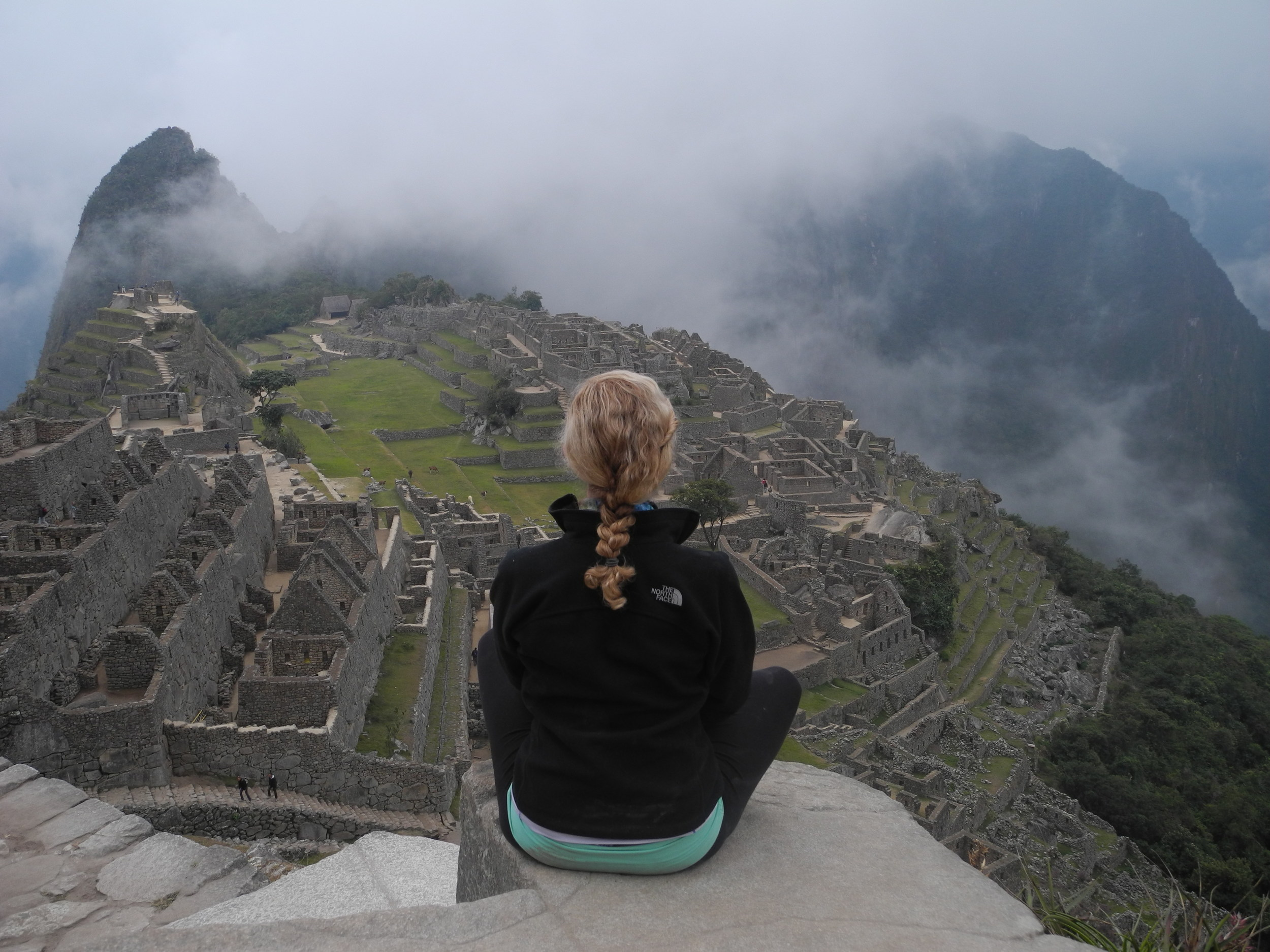 A day after conquering the parasite, I was among the ruins of Machu Picchu