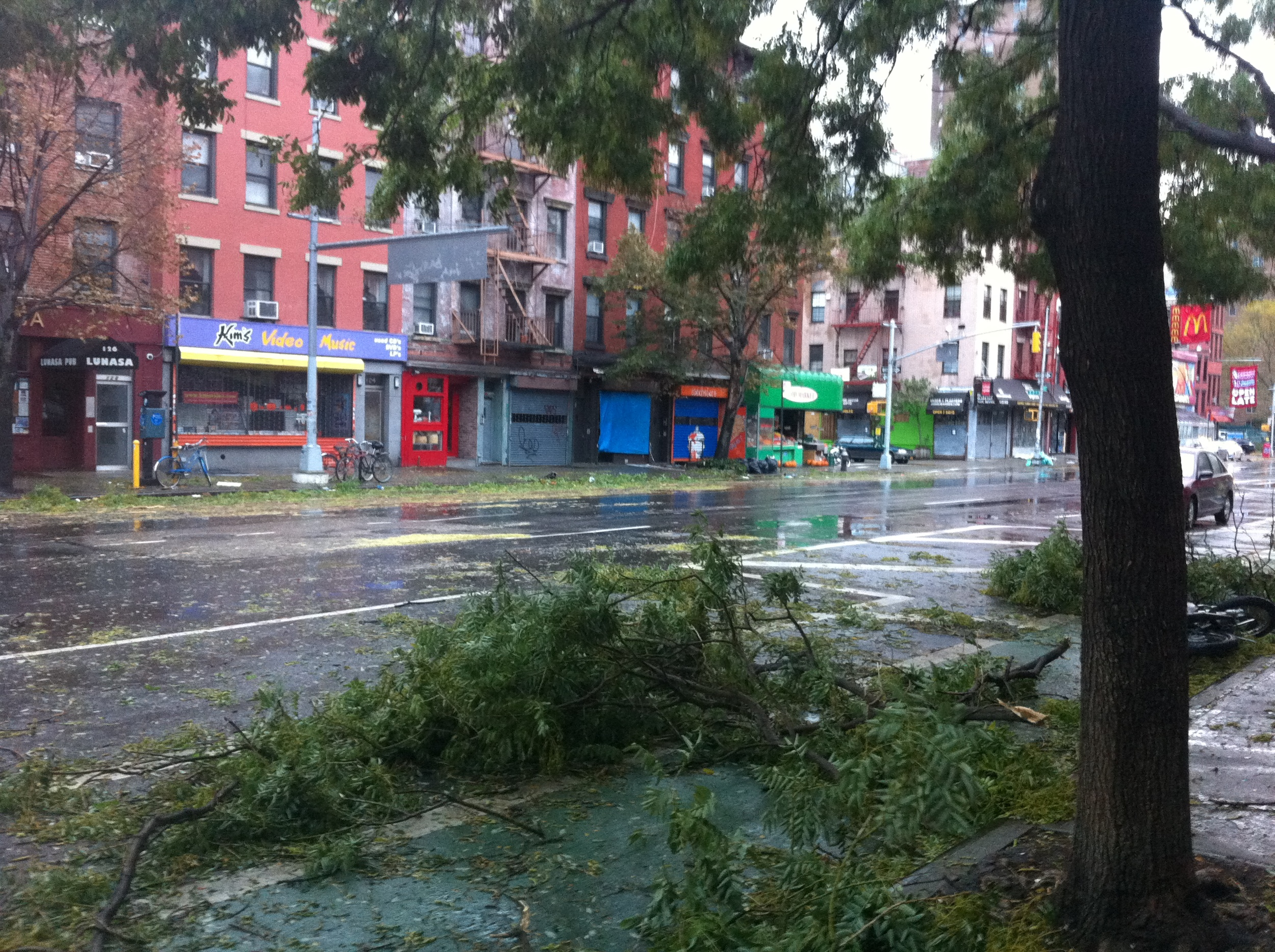 The damage along First Avenue after Superstorm Sandy