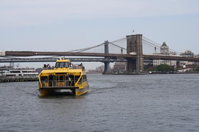 The free ferry service to Red Hook has proved to be a popular weekend activity for tourists and city dwellers alike (from June 4 story)