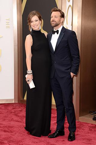 Olivia Wilde in Valentino and Jason Sudeikis in Prada