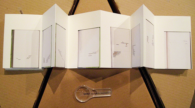 """I was asked to make a """"book"""" version of the book pages for the exhibition,  The Page,  held in Los Angeles in 2010."""