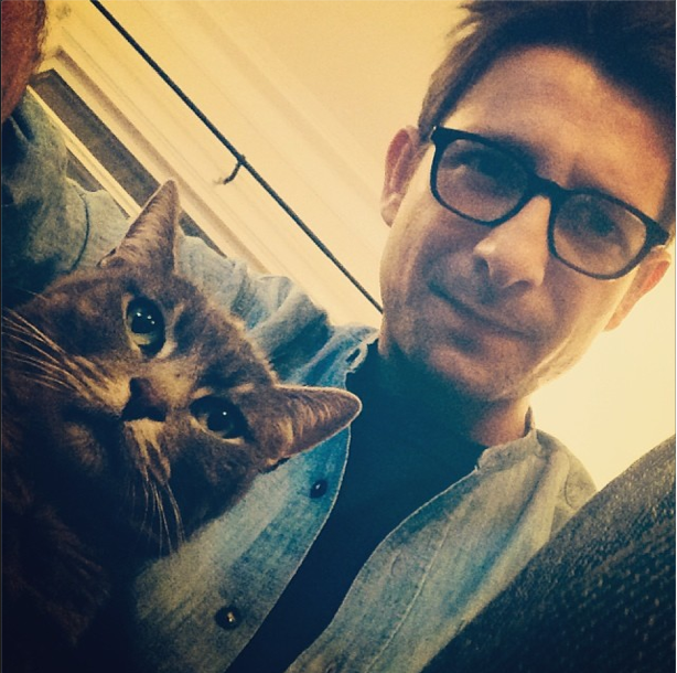 Bruno Miotto and Julian's cat.
