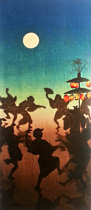 Takahashi Hiroaki, Rural Dance at the Feast of Lanterns (1927)