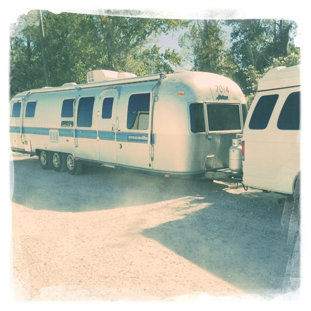 """Our new Airstream pulled by """"Boss."""""""