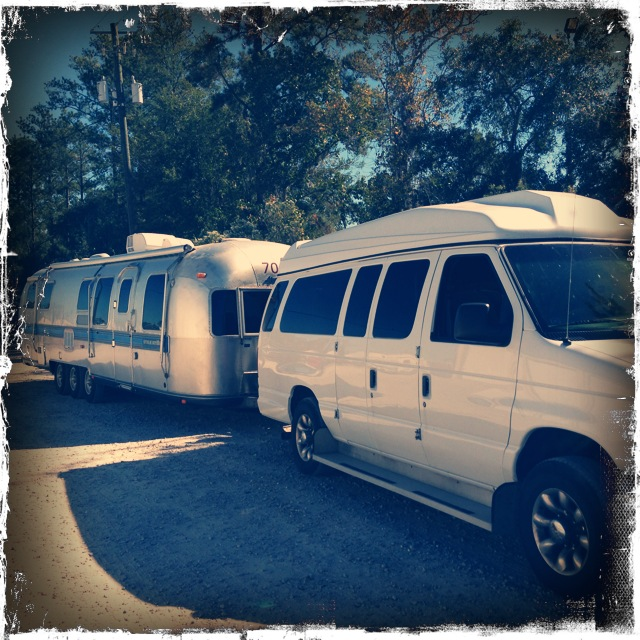 "This is our new Airstream and tow vehicle, ""Boss"""