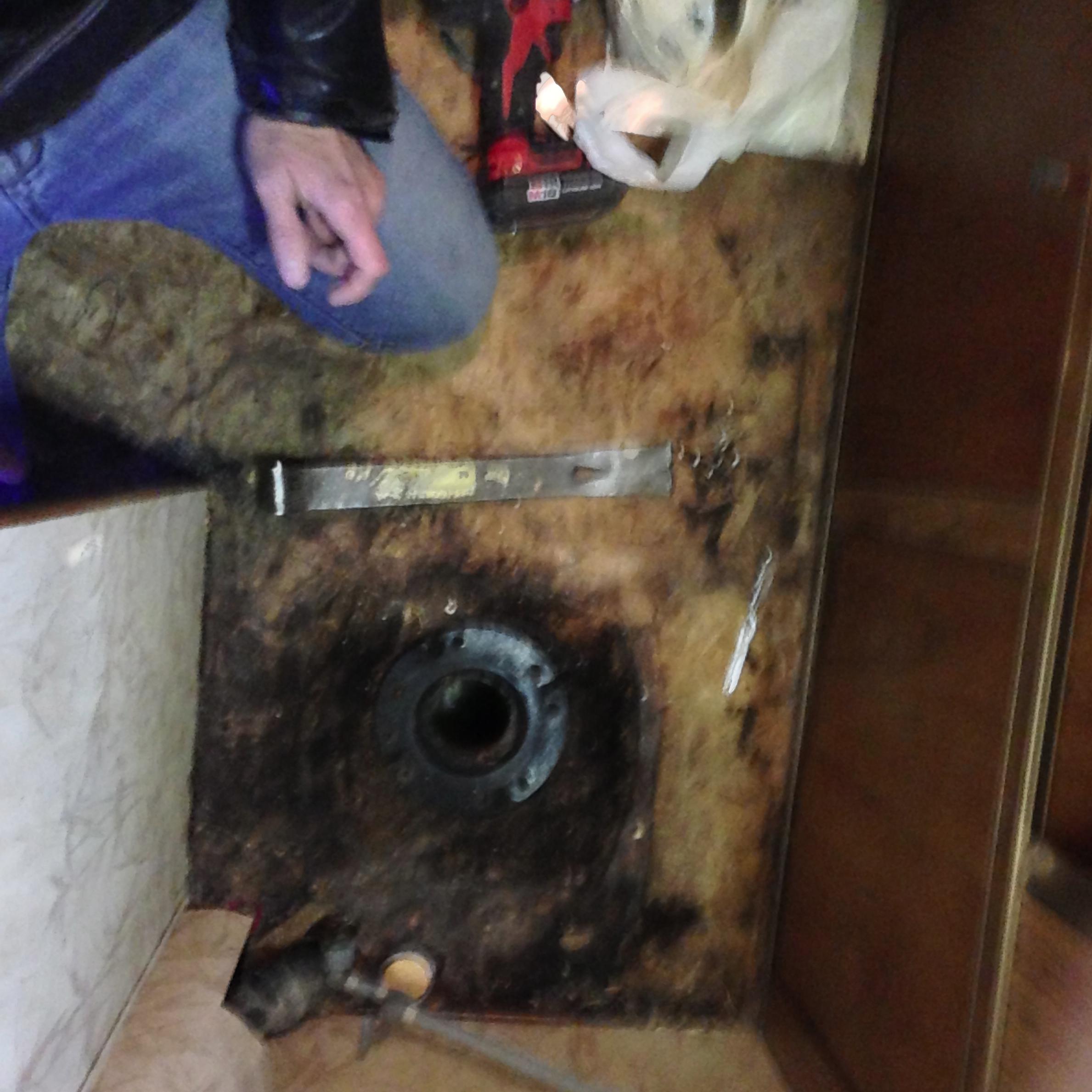 Absolutely disgusting bathroom floors.