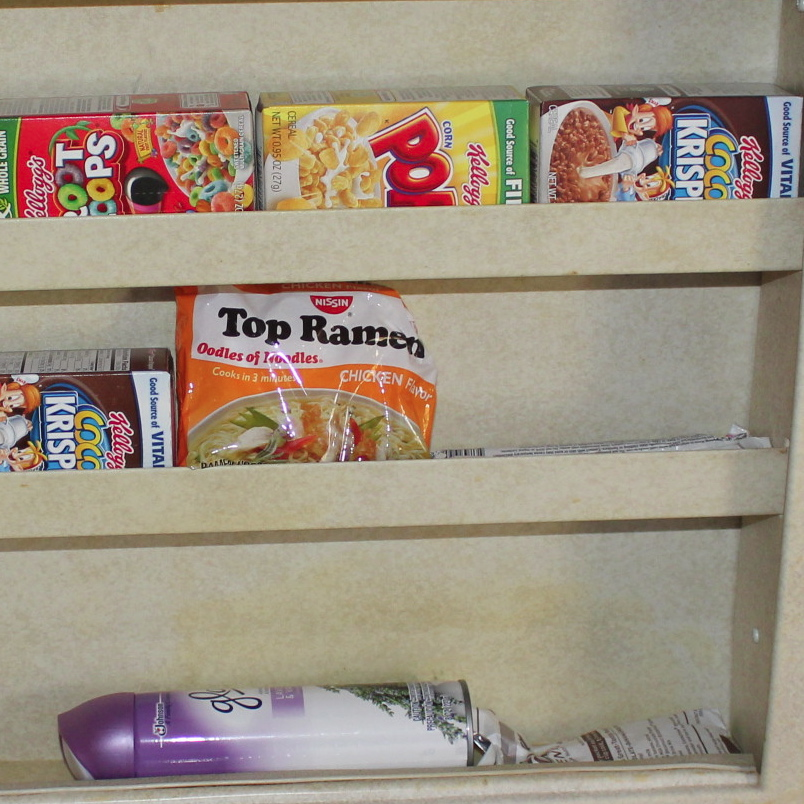Random boxes of cereal that was left by the previous owner.