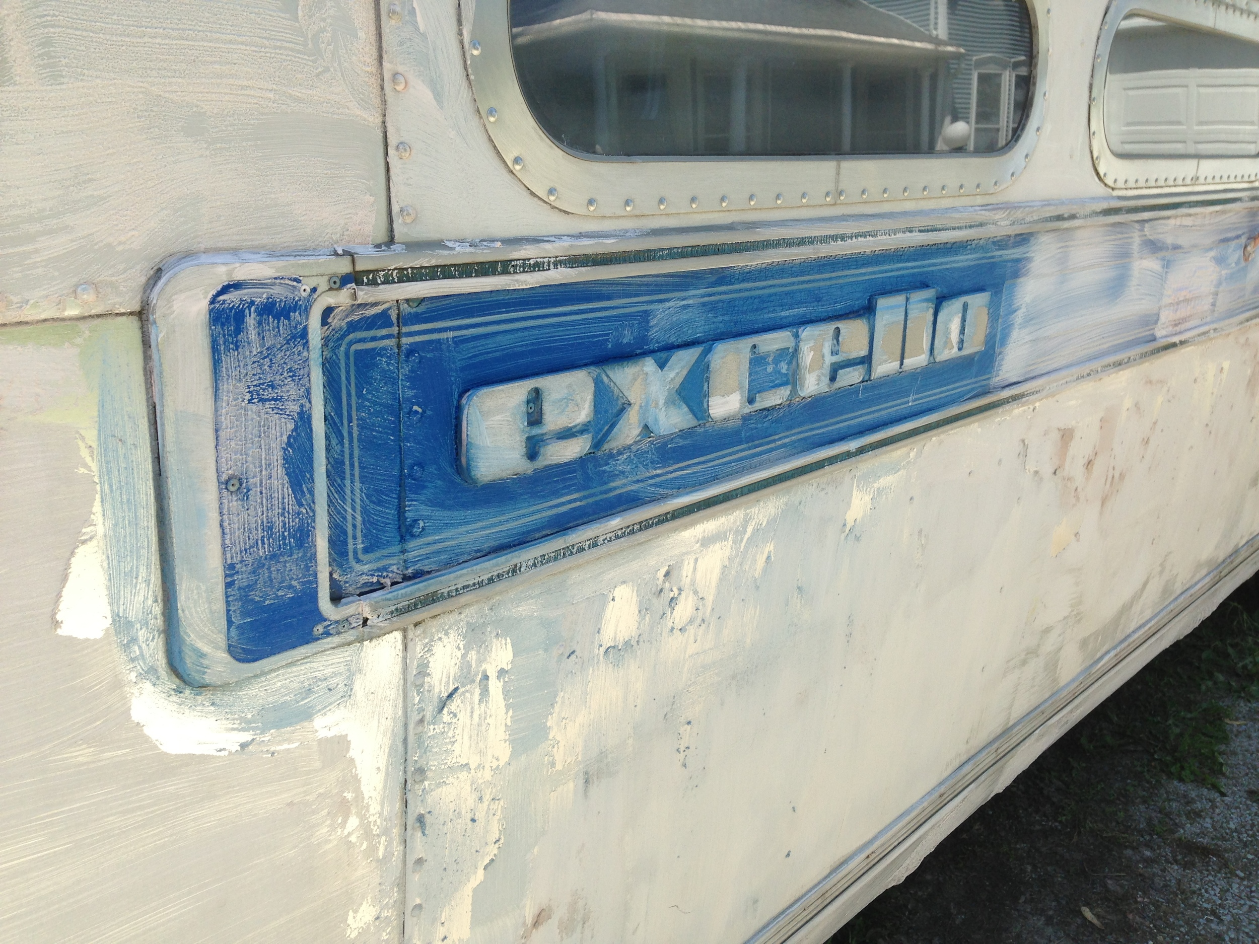 Blue Excella Nameplate and Decals
