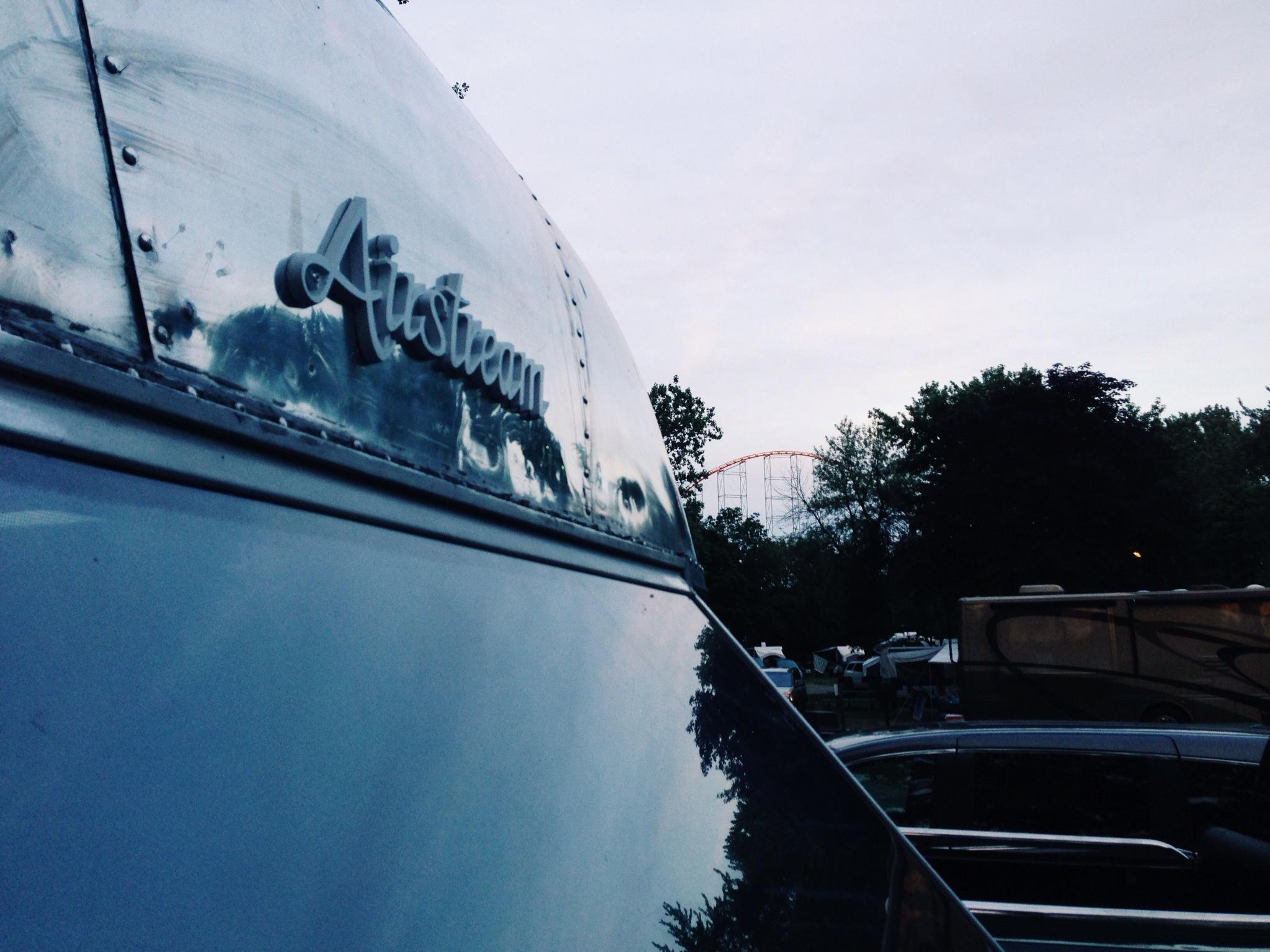 Parking the Airstream under the Magnum XL 200