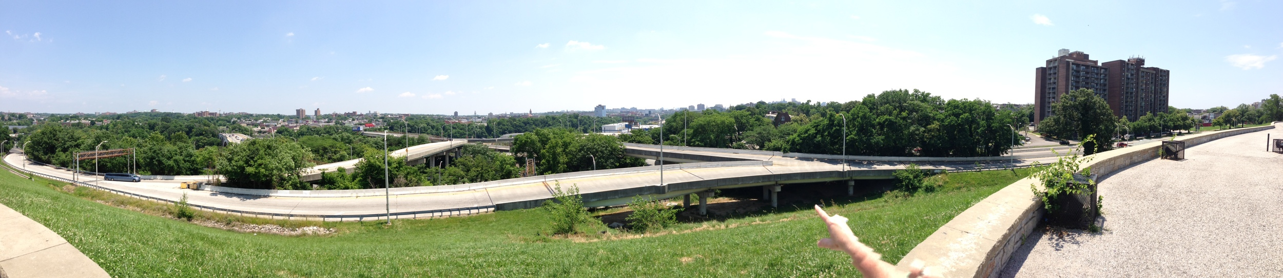 The view from Druid Park in Baltimore, MD