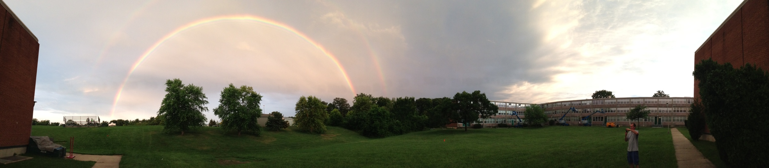 A rainbow on our final evening at Seton Keough.