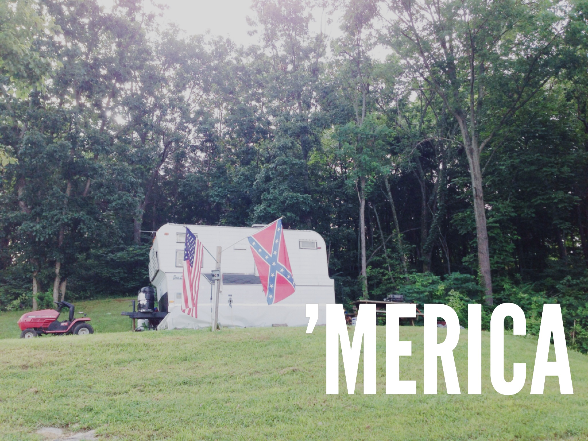 Our patriotic neighbors at the TA campground.