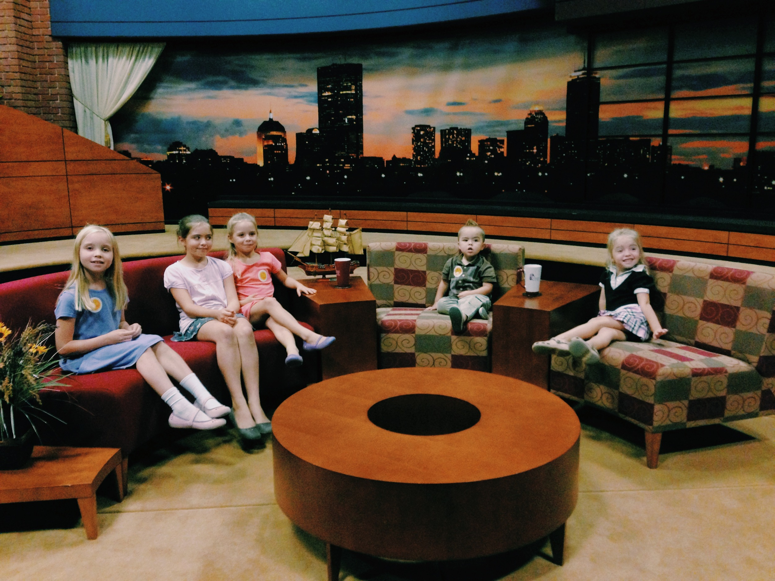 """The Mette Family touring the set of """"This is the Day"""""""