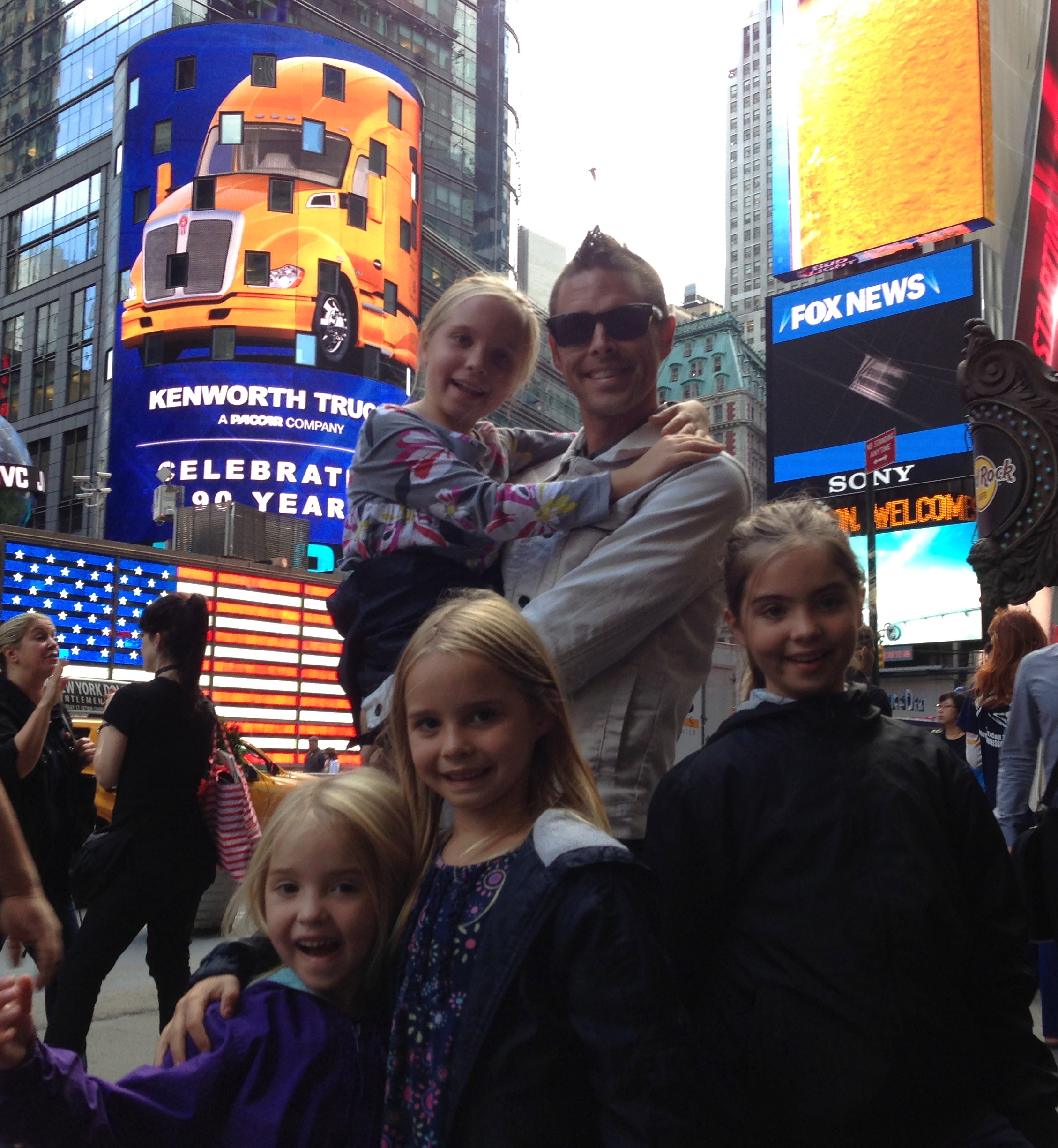 I think we're the only family in Times Square.