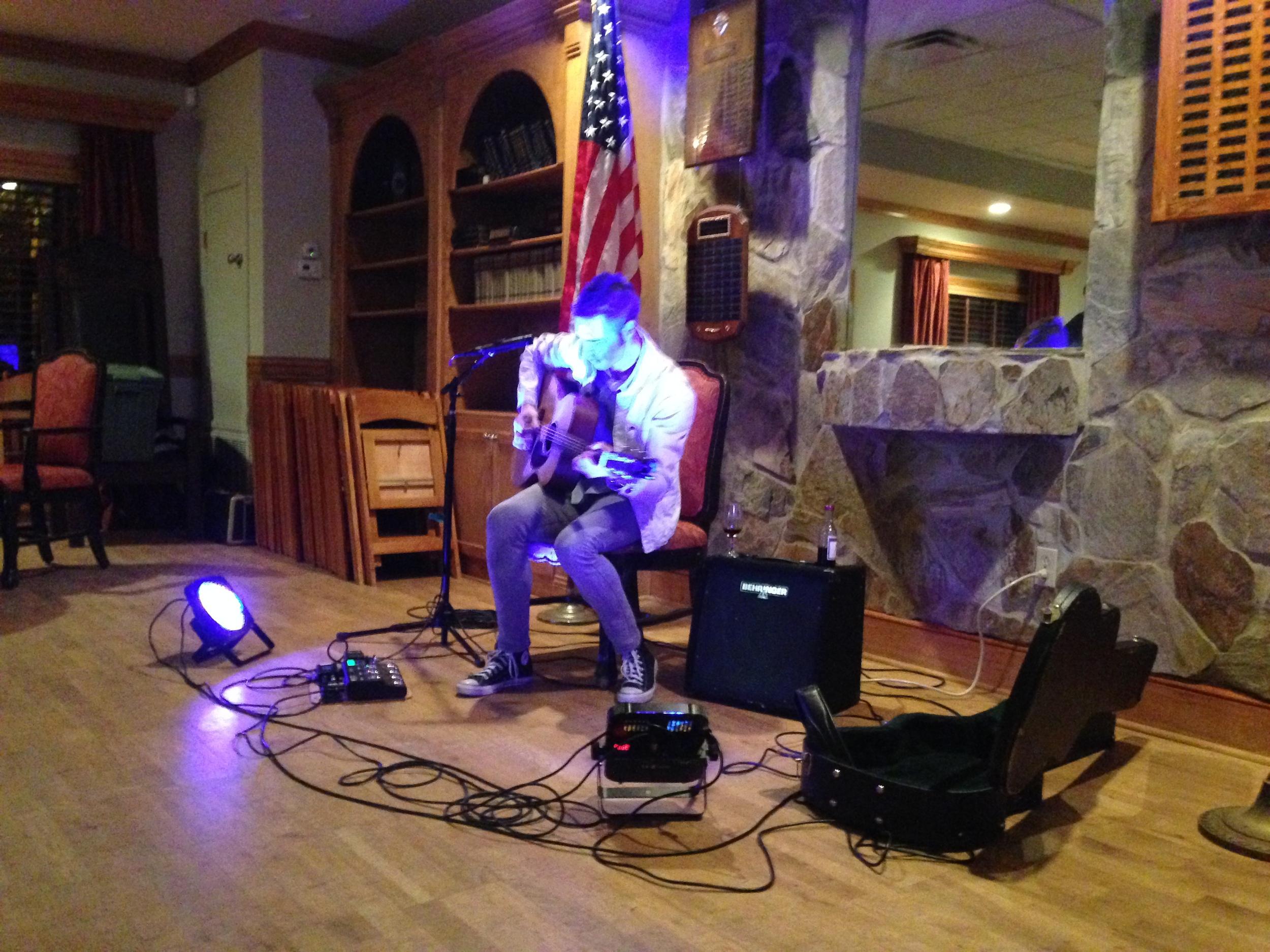 An acoustic concert in Augusta, GA