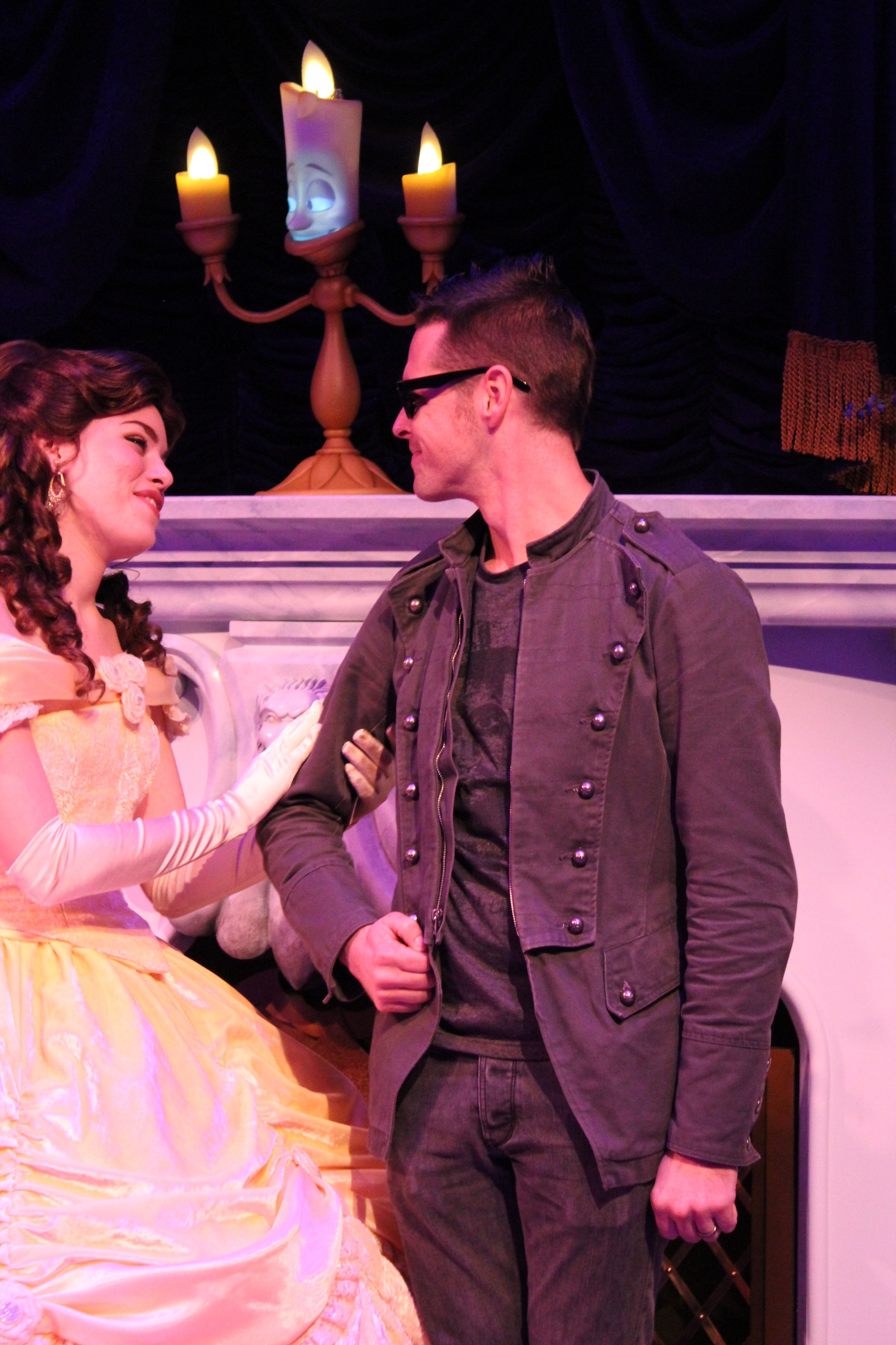 Look at the handsome prince with Belle!