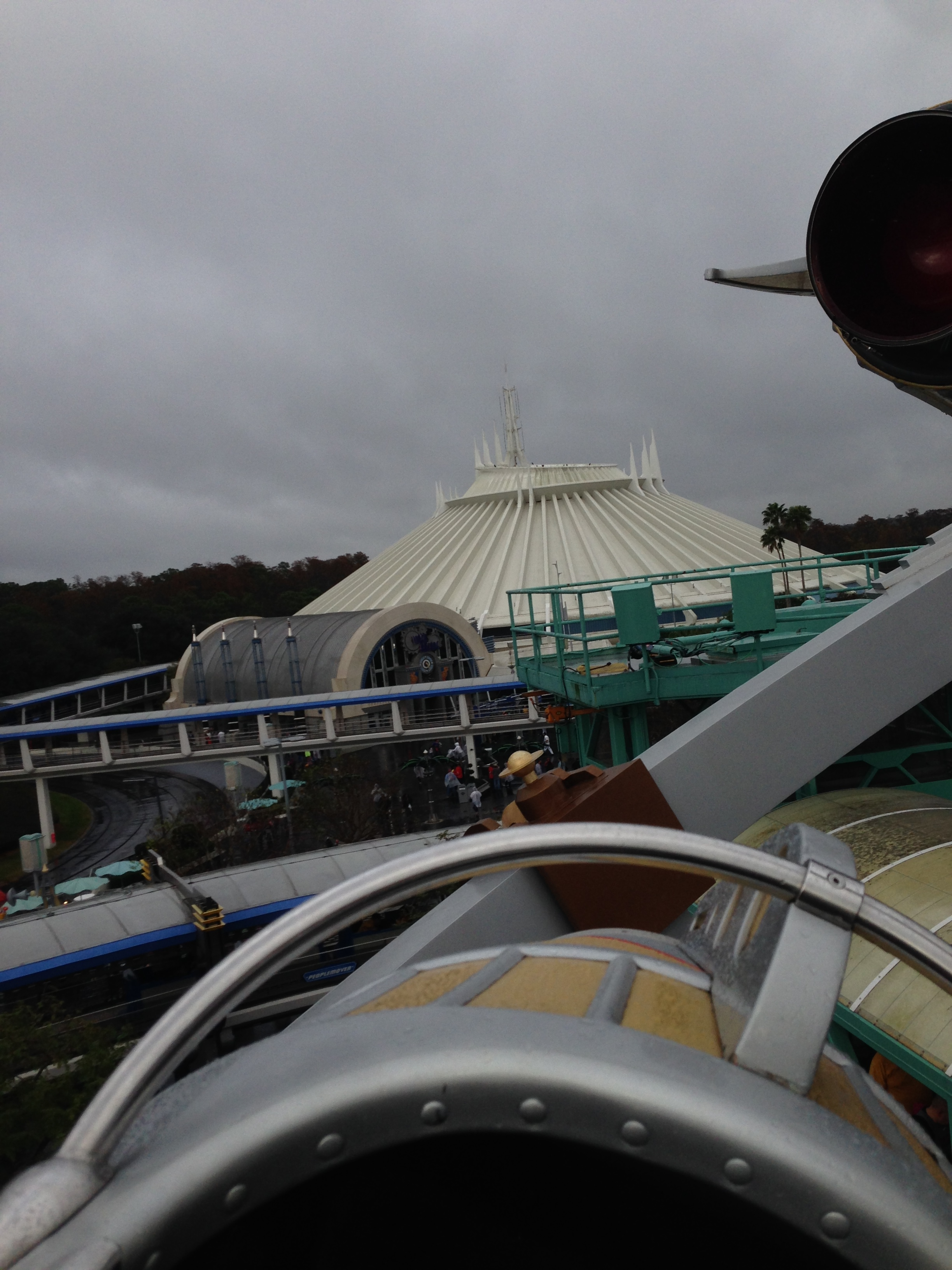 A view of Space Mountain, Charity's favorite