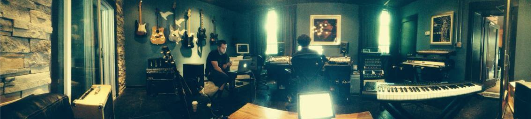 Kevin and Steve working hard on the new songs!