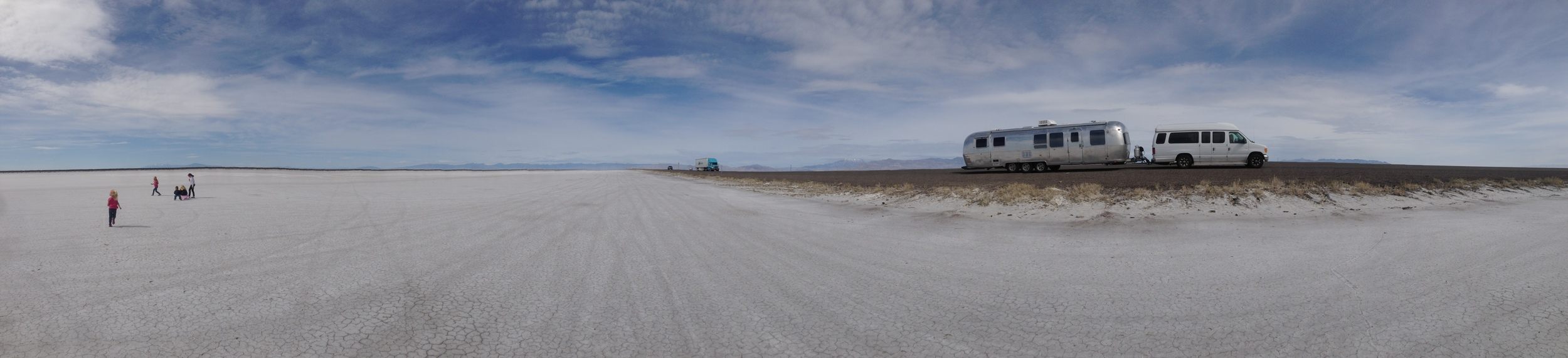 Bonneville Salt Flats in Utah.