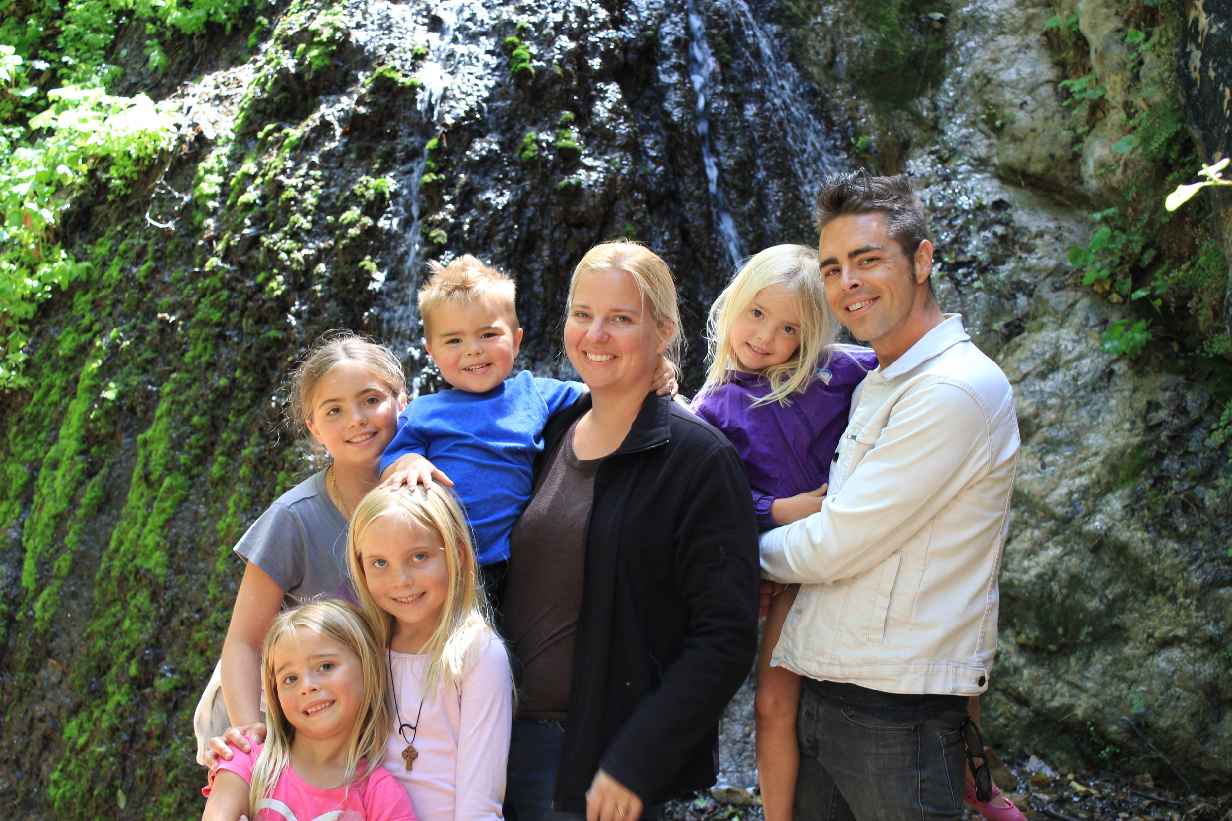 The Mette Family on a day off in California.