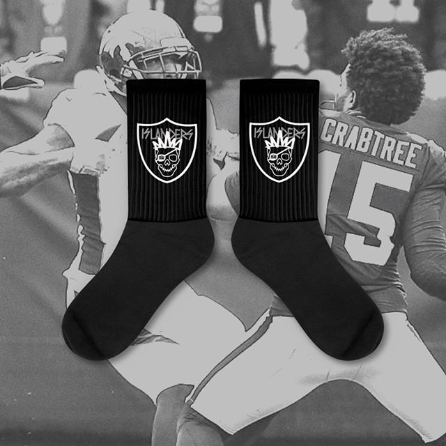 ISLANDERS NATION NFL COLLECTION by Crowns Guam 💀Now available exclusively online!! Men's! Women's! Kids! Towels! Socks! Aprons! Buckets! All now online for a hella limited time! Go! Click the link in our bio (CROWNSGUAM.COM). #CROWNSGUAM #GUAM #RAIDERS #BLACKHOLE #RAIDERNATION #ISLANDERS #raidersnation