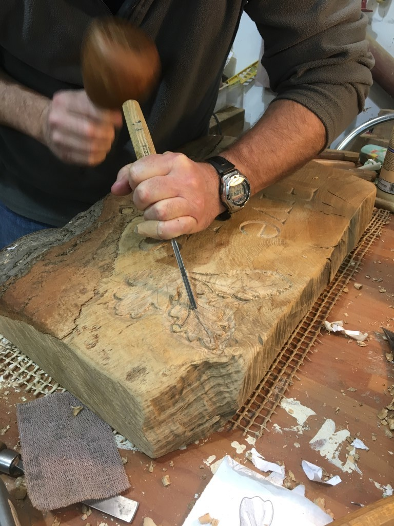Learn to use traditional carving tools