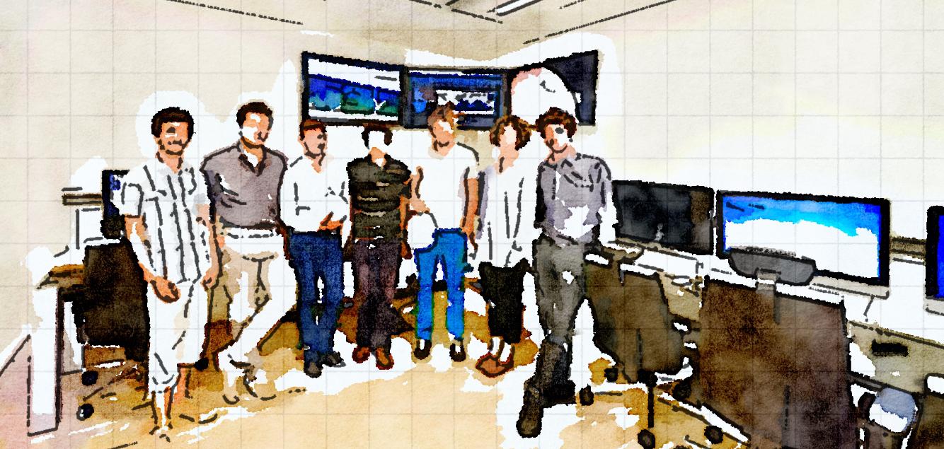 EATOPS Control Room, Noordwjk, The Netherlands.