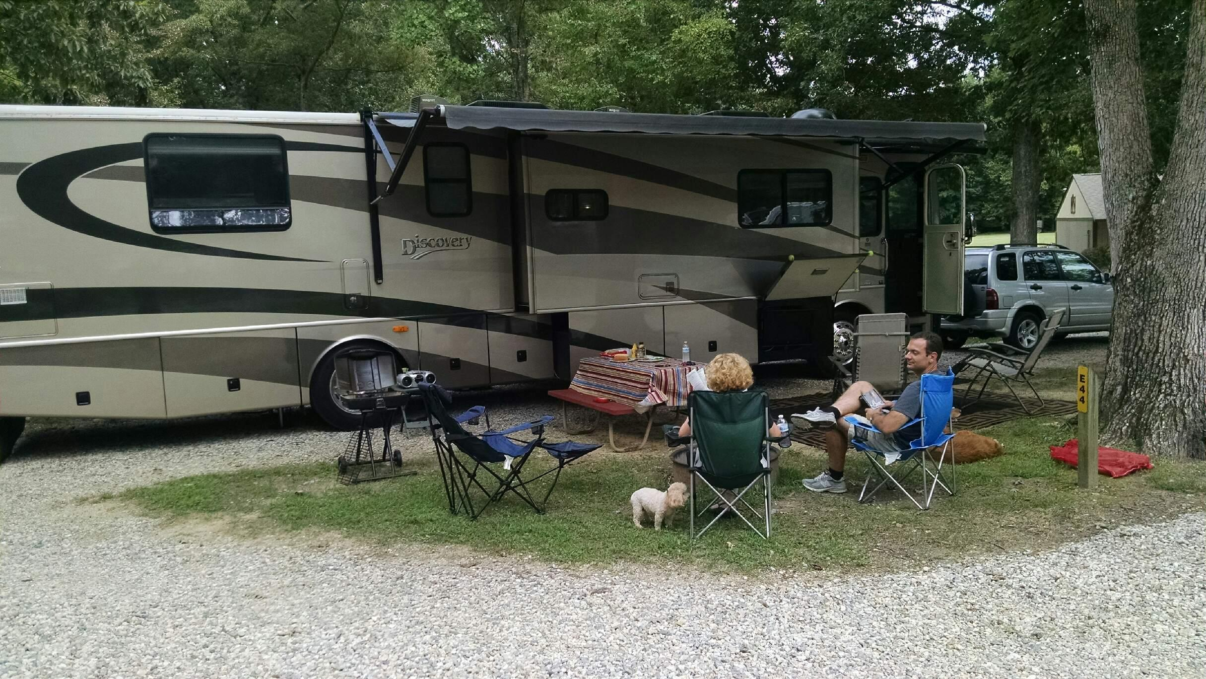 Living the good life back at the campsite.