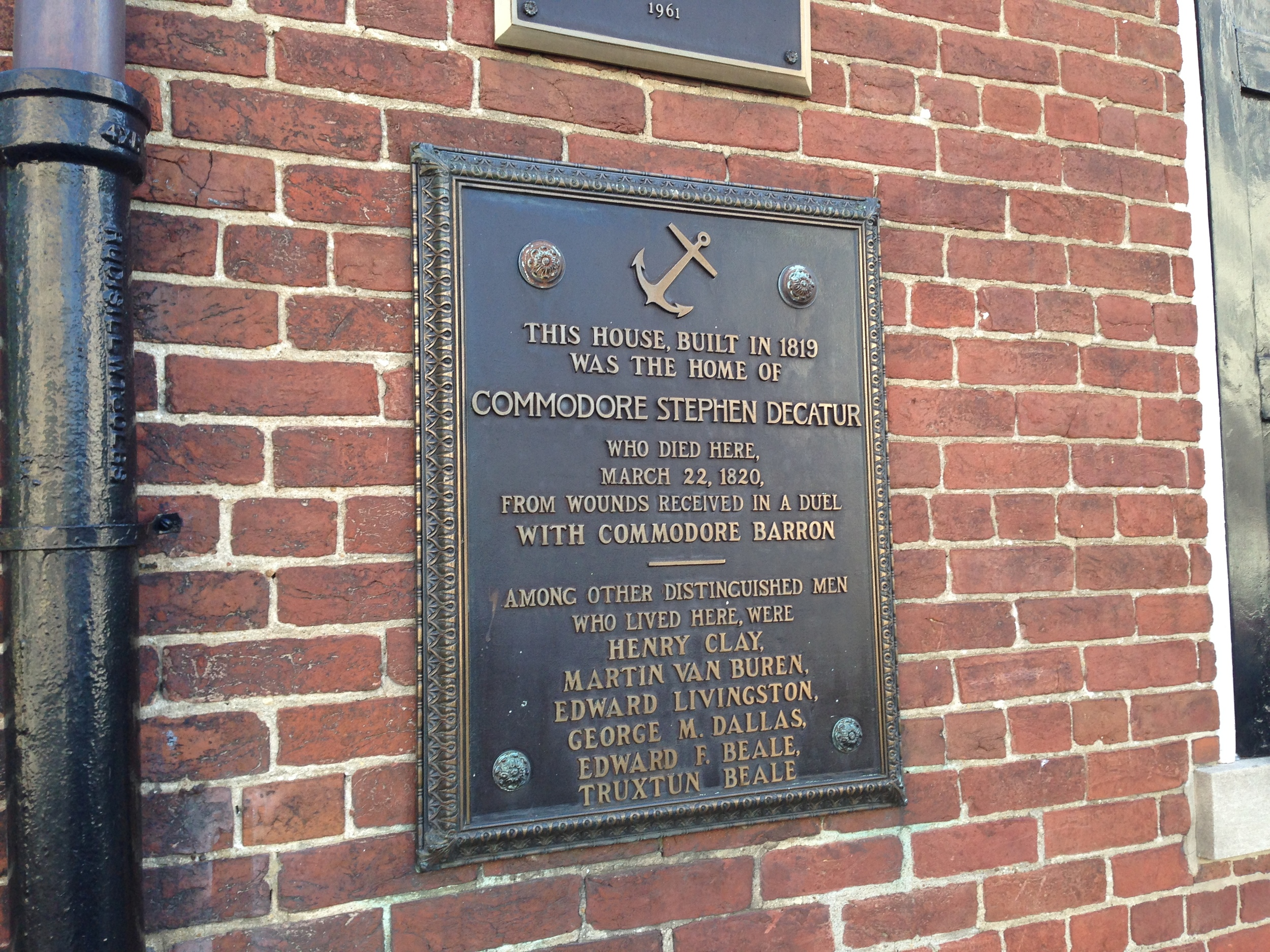Plaque on the outside of the house. Told you it was an important place!
