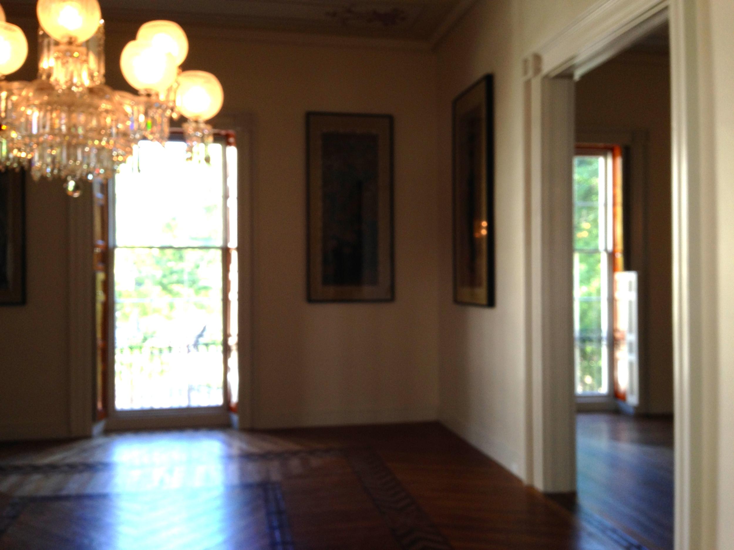 California Room with original chandelier.