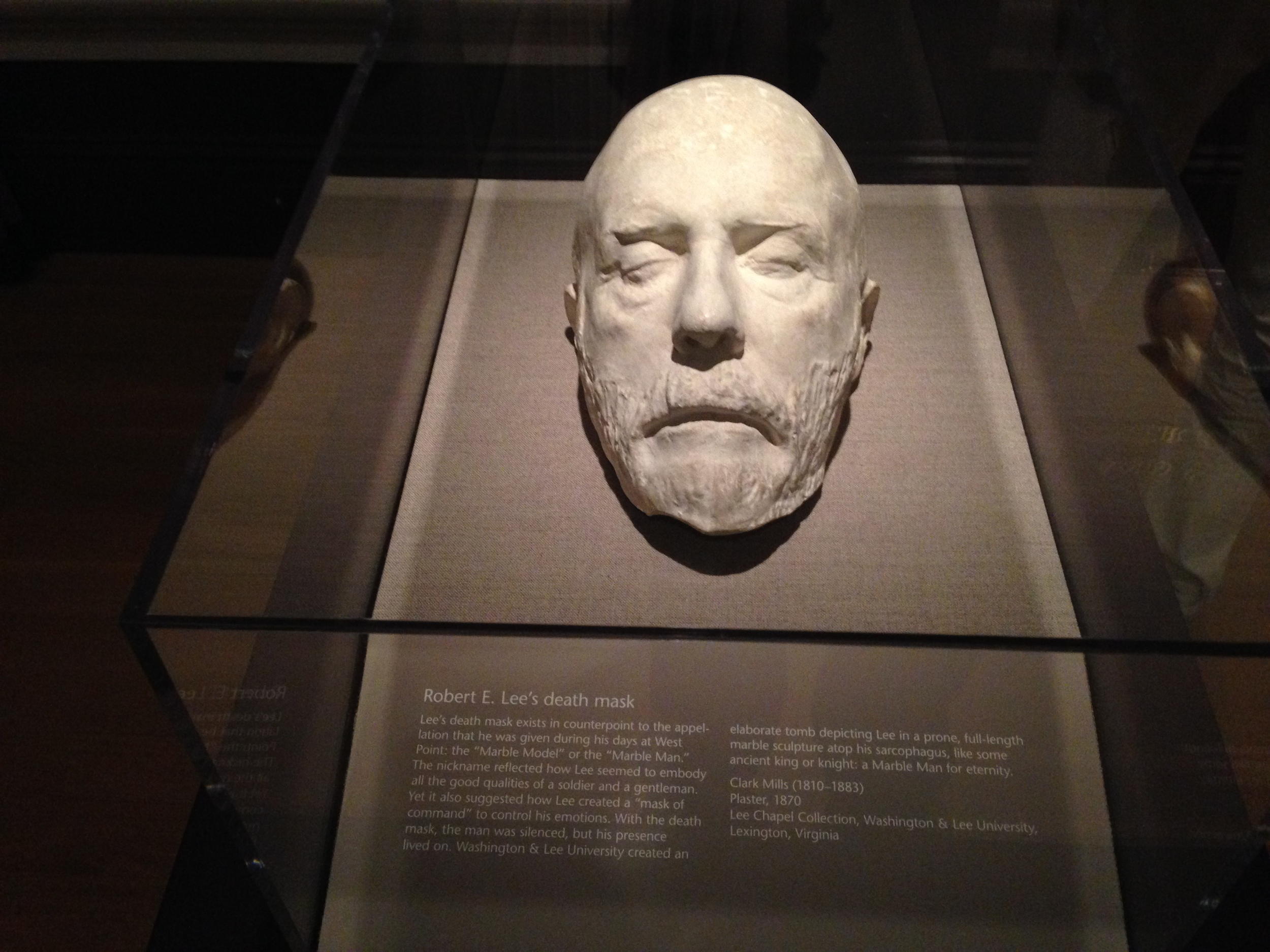 The death mask of Robert E. Lee.