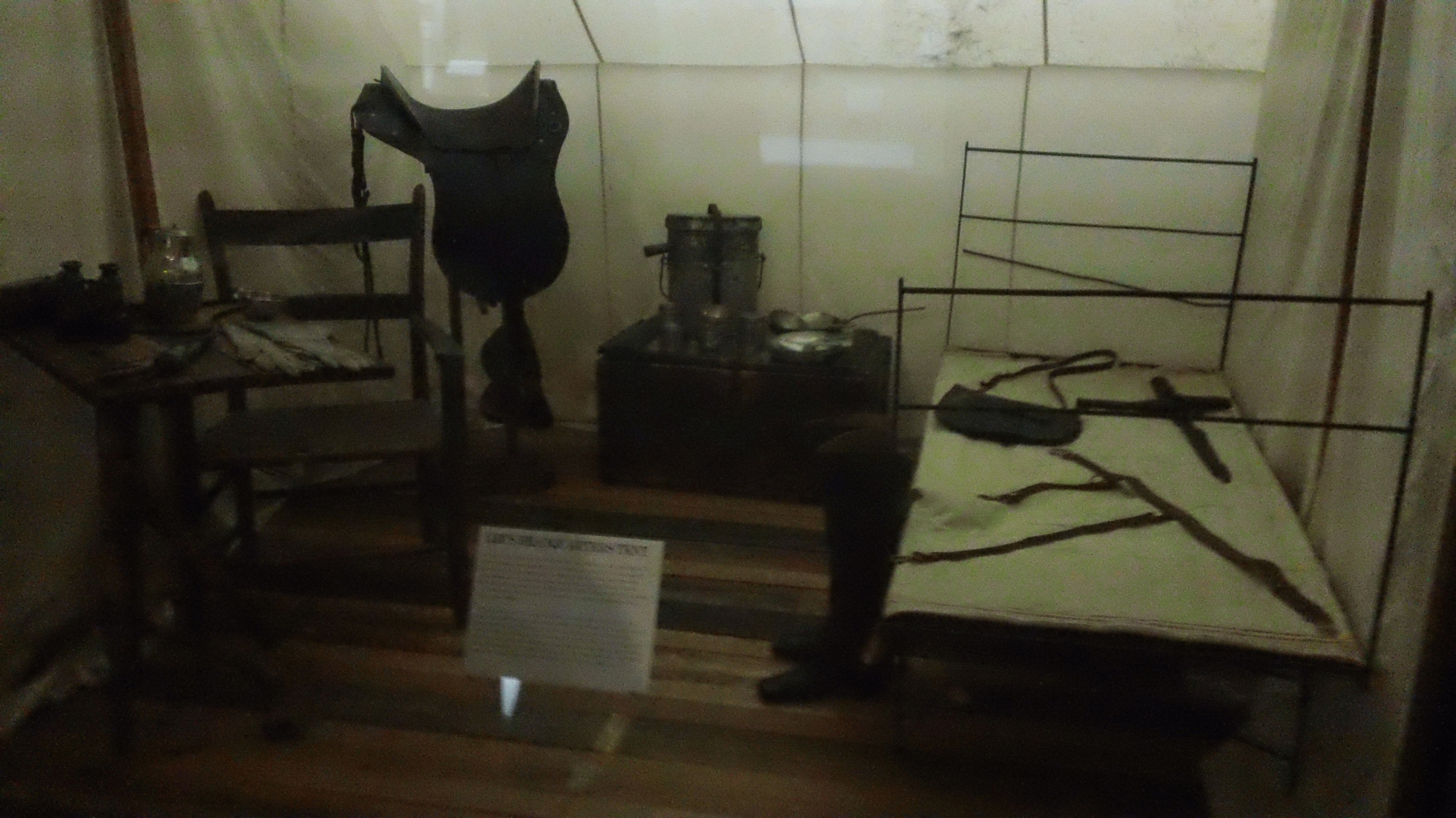 The camp equipment of Robert E. Lee.  Double whoa.
