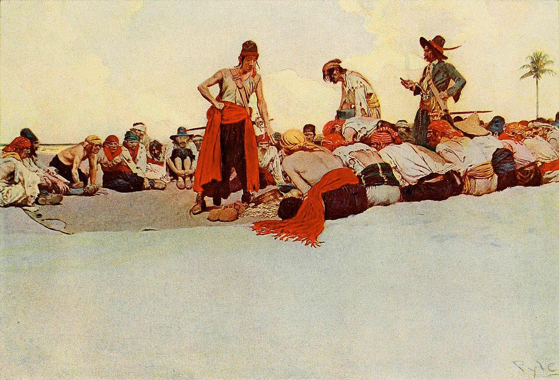 Pirates dividing their spoils.