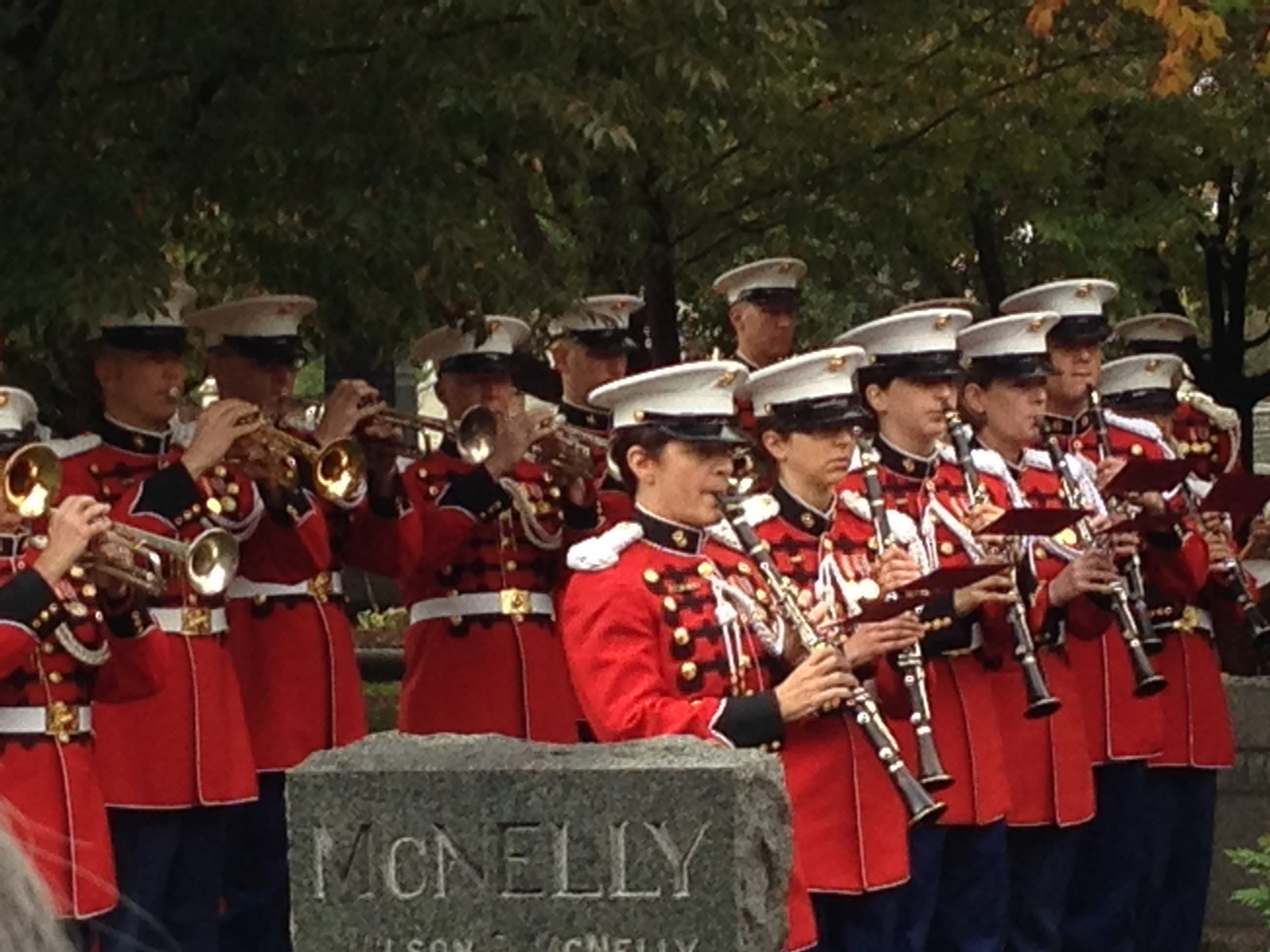 Then the US Marine Bland played some familiar Sousa marches.